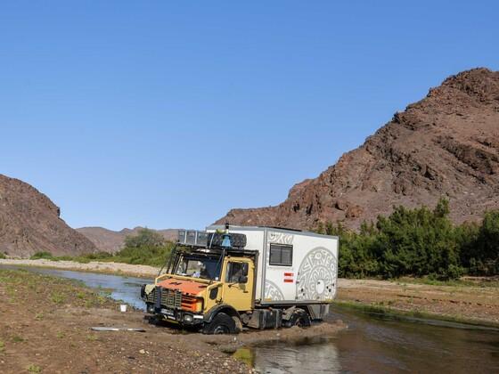 Festgefahren im Hoarusib river - Namibia
